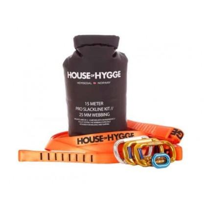 House of Hygge 15 meter Pro Slakkline® Sett